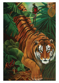 Prowling Tiger Card