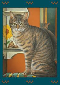 Wally, the Wall Cat Card